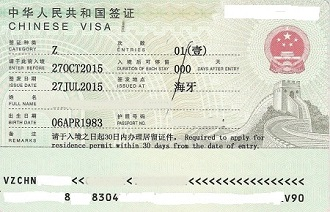 China Z Work Visa