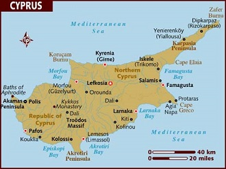 Cyprus Map - Citizenship by Investment
