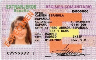 Spain Residence Permit Card