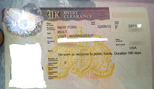 UK Spouse Visa Label