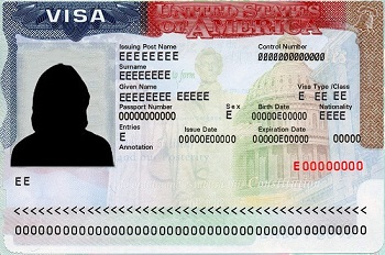 H-1B Visa Label - Sample